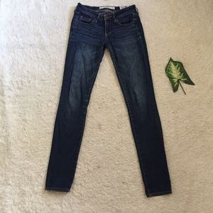 Abercrombie dark wash fade jeans